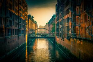 Deutschland, Hamburg, Elbe, Hafen, Speicherstadt, Hafencity, Sandbrücke