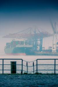 Deutschland, Hamburg, Elbe, Hafen, St. Pauli, Fischmarkt, Toller Ort, Containerterminal
