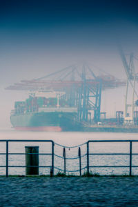 Germany, Hamburg, Elbe, Port, St. Pauli, Fish Market, Great Place, Container Terminal