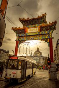 Europa, Belgien, Antwerpen, Stadt, Innenstadt, Chinatown, Pagodentor, Tor