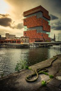 Europa, Belgien, Antwerpen, Stadt, Museum, Museum am Strom, Eilandje