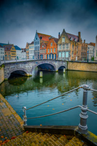 Europe, Belgium, Bruges, city, old town, canal, Langerei