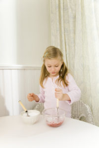 Kitchen, girl, baking-ingredients, mixes, cheerfully, series, people, child, bowls, ingredients, sugar, jam, scrambles, bakes, cooking, joy, pride, independence, interior,
