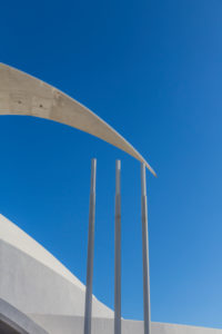Auditorium, detail, Auditorio de Tenerife, congress and concert hall by the architect Santiago Calatrava, opened in 2003, Santa Cruz, Santa Cruz de Tenerife, Tenerife, Canary Islands, Spain, Europe