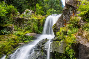 Triberg Waterfalls, 163 m, 7 steps, Triberg, Black Forest, Baden-Wurttemberg, Germany