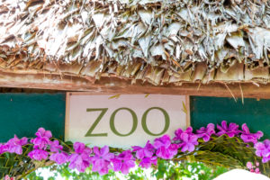Entrance to the zoo, Ivoloina National Park, Ivoloina River, Taomasina, Tamatave, Madagascar, Africa, Indian Ocean
