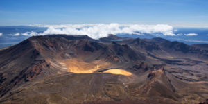 Panorama of Tongariro National Park taken from Ngauruhoe, Ruapehu District, New Zealand