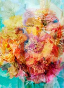 Fotomontage eines Blumenstraußes
