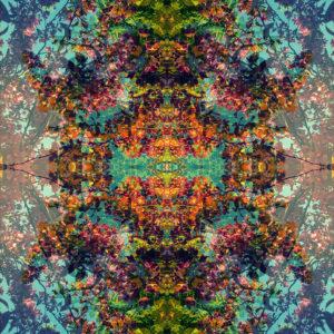 symmetrisches Ornament von Bäumen