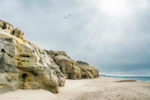 Europa, Portugal, Estremadura, Region Centro, Praia d'El Rey, zerklüftete Felsenküste
