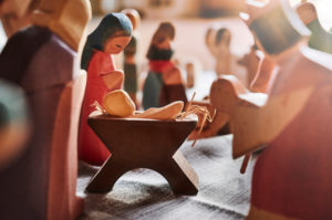Christmas, Christmas story, nativity scene, group of figures, back light