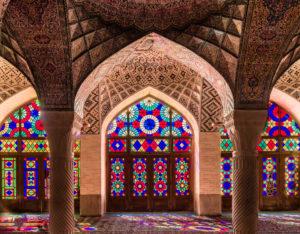 Gebetsraum der Nasir-al-Molk Moschee in Shiraz