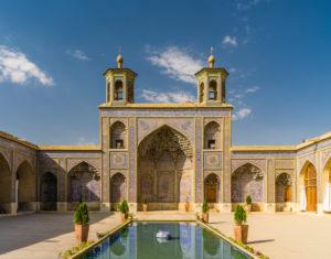 Innenhof der Nasir-al-Molk Moschee in Shiraz