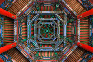Ceiling, The Spacious Pavilion, The Summer Palace, Beijing, China