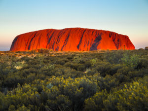 Sunset at Ayers Rock, Australia