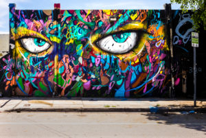 Graffiti Wall, Wynwood Art District, Miami, Florida, USA