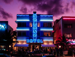 Colony Hotel, Ocean Drive. Miami Beach. Florida. USA.
