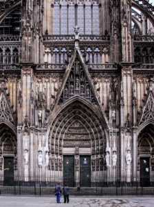 Side Nave Entrance. The Cathedral. Cologne, Germany.