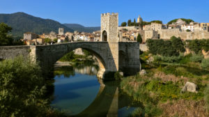 The Old Bridge over Fluvia River. Besalú (Girona).