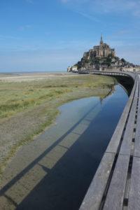 Brücke zu Mont Saint Michel