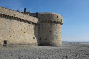 Mont-Saint-Michel Mauer