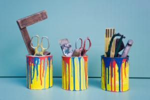 DIY Ordnungssystem in alten Farbdosen