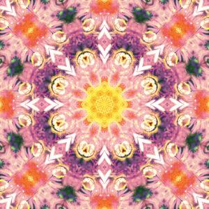 photographic flowers mandala,