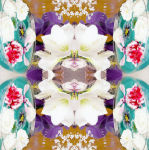 Blütenmandala, Composing,