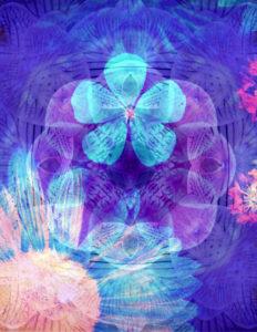 Composing, Blüten, unterschiedlich, Detail, blau,