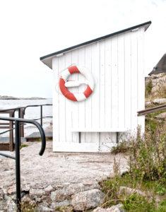 Denmark, Christiansö, Bornholm (island), bathhouse,
