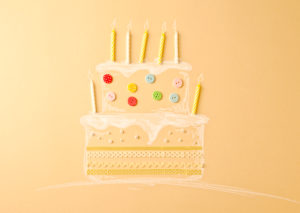 Cake, candles, bright, subscription, buttons, candles,