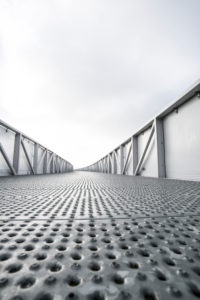 steel bridge for pedestrians