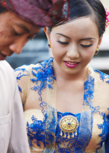 Young bride and groom, Native, reportage, traditional wedding, Bali, Indonesia, Asia