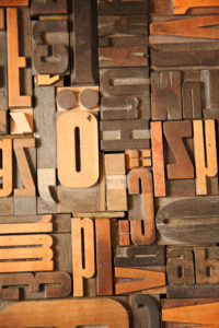letters for printing, from above, rustic home accessories, wood, handicraft