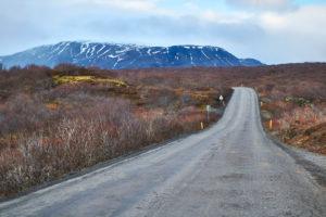Iceland, Golden Circle road, Thingvellir National Park, southwest