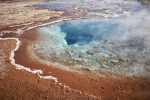 southwest Iceland, Golden Circle, Geysir, Laugarvatn in Haukadalur Valley