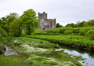 Ireland, County Wexford, Tintern Abbey on Hook peninsula, Cistercian monastery from the 12th century