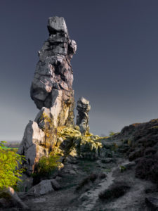 Europe, Germany, Saxony-Anhalt, Harz Nature Park, Teufelsmauer (Devil's Wall) Rock Formation near Neinstedt