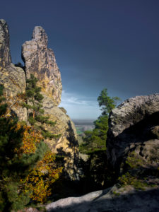 Europe, Germany, Saxony-Anhalt, Harz Nature Park, Teufelsmauer (Devil's Wall) Rock Formation at Timmenrode