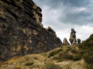 "Europe, Germany, Saxony-Anhalt, Thale, rock formation ""Teufelsmauer"""