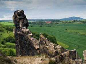 Europa, Deutschland, Sachsen-Anhalt, Thale, Felsformation 'Teufelsmauer'