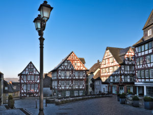 Europe, Germany, Hesse, Lahn-Dill-Kreis, Lahn-Dill-Bergland, Wetzlar, old town on the Kornmarkt