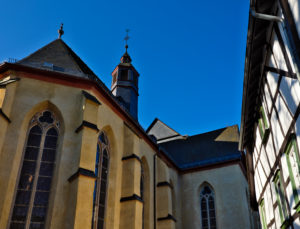 Europa, Deutschland, Hessen, Lahn-Dill-Kreis, Lahn-Dill-Bergland, Wetzlar, Schillerplatz, Untere Stadtkirche (ehemaliges Franziskanerkloster)