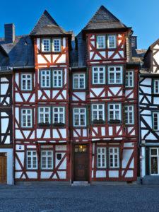 Europe, Germany, Hesse, Lahn-Dill-Kreis, Lahn-Dill-Bergland, Wetzlar, Schillerplatz, Jerusalemhaus (Schillerplatz 5)
