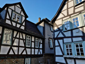 Europe, Germany, Hesse, Lahn-Dill-Kreis, Lahn-Dill-Bergland, Wetzlar, half-timbered houses in Rosengasse