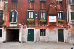 old facade at Campo Sant'Agnese in Venice