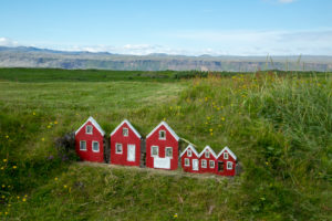 Iceland, elf cottage in the tall grass, magical Iceland,