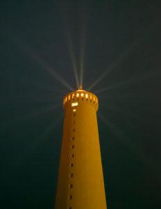 Island, Reykjanes Leuchtturm nahe Gardur, Leuchtturm
