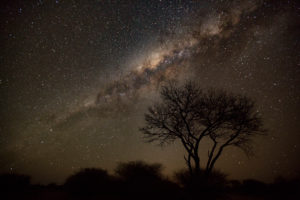 Milky Way over the Kalahari desert, southern Starry sky, Namibia
