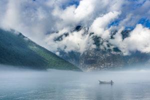 boat in the Ardalsfjord, province of Sogn og Fjordane, south Norway